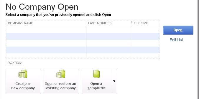 Create a New Company in QuickBooks Desktop