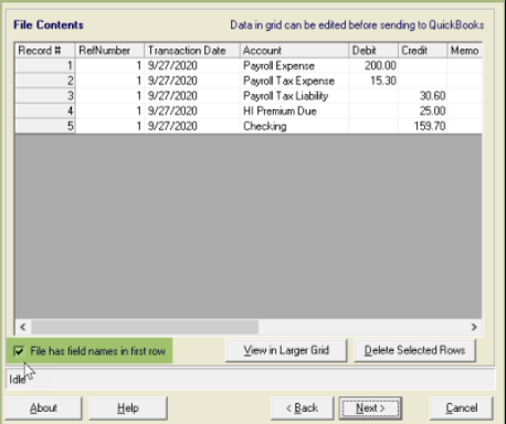Import Payroll Data into QuickBooks from
