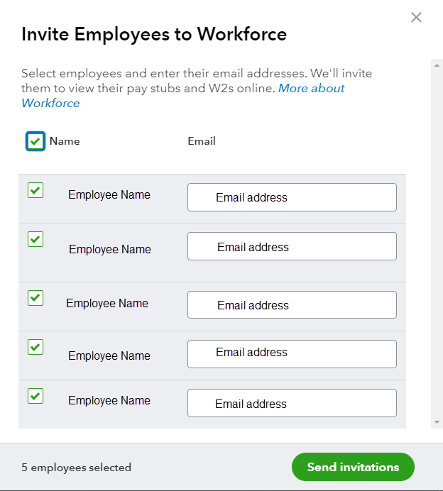 Invite Employees to Workforce