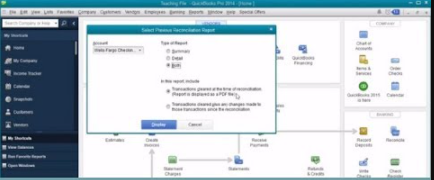 Print Bank Reconciliation from QuickBooks