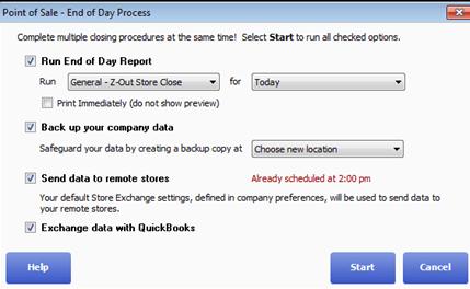 QuickBooks POS Financial