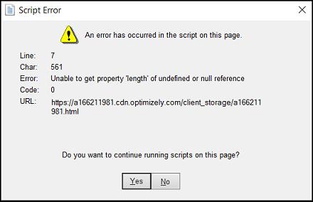 Script Error in QuickBooks