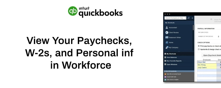 View Your Paychecks, W-2s, and Personal info in Workforce