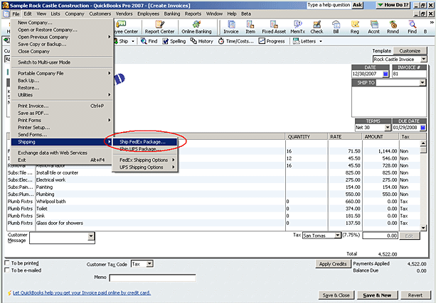QuickBooks Shipping Manager