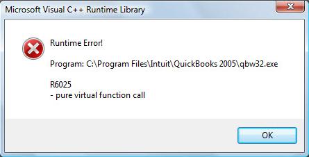 quickbooks runtime error