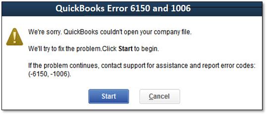 QuickBooks Error 6150 and 1006