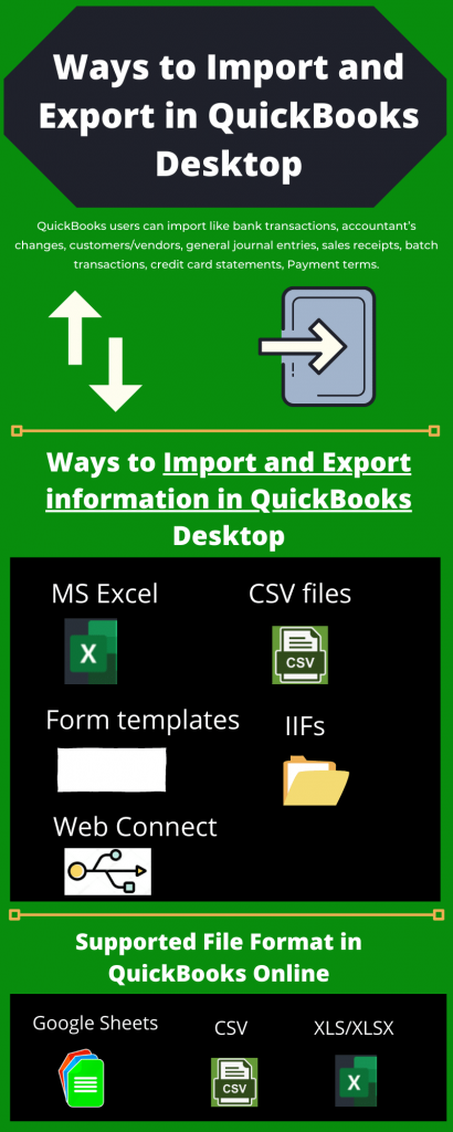 Ways to Import and Export in QuickBooks
