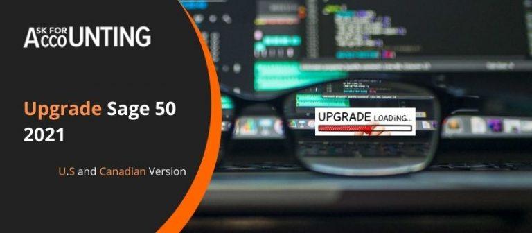Upgrade Sage 50 2021